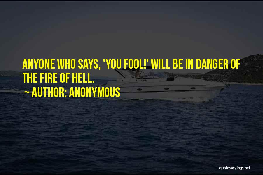 Hell Bible Quotes By Anonymous
