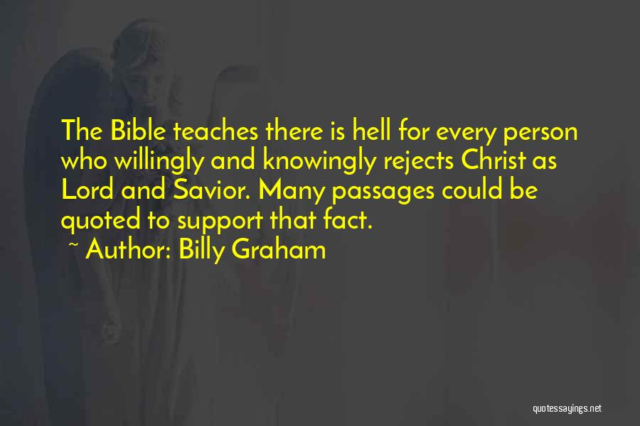 Hell Bible Quotes By Billy Graham