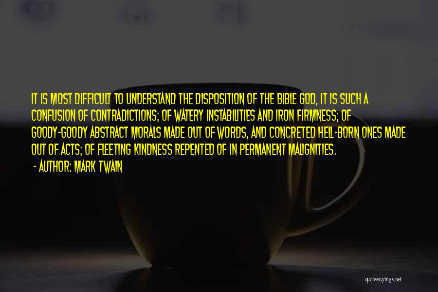 Hell Bible Quotes By Mark Twain