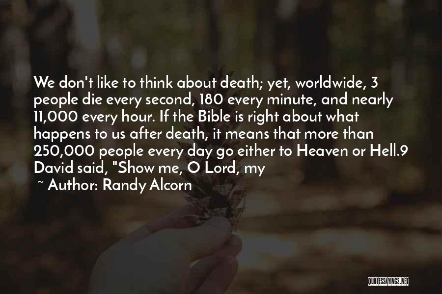 Hell Bible Quotes By Randy Alcorn