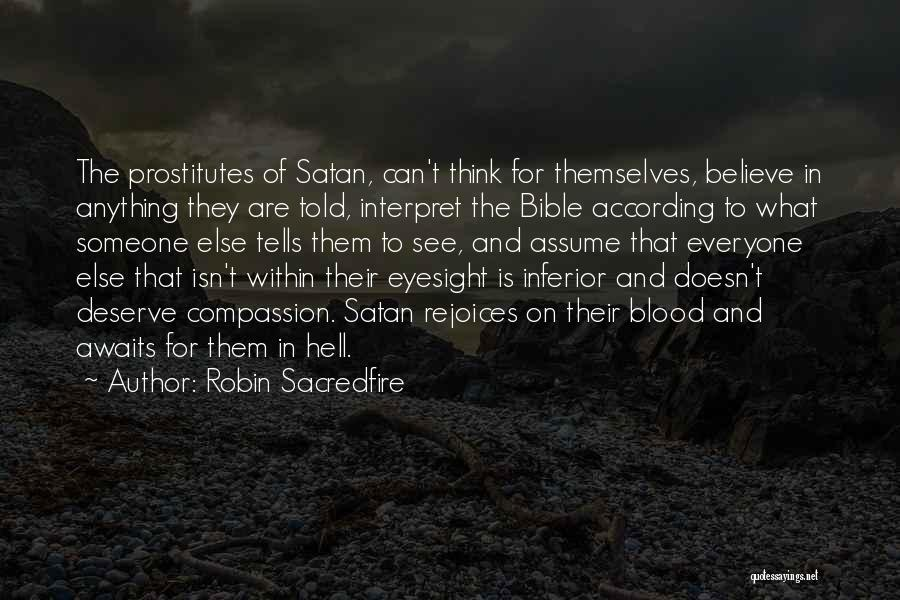 Hell Bible Quotes By Robin Sacredfire
