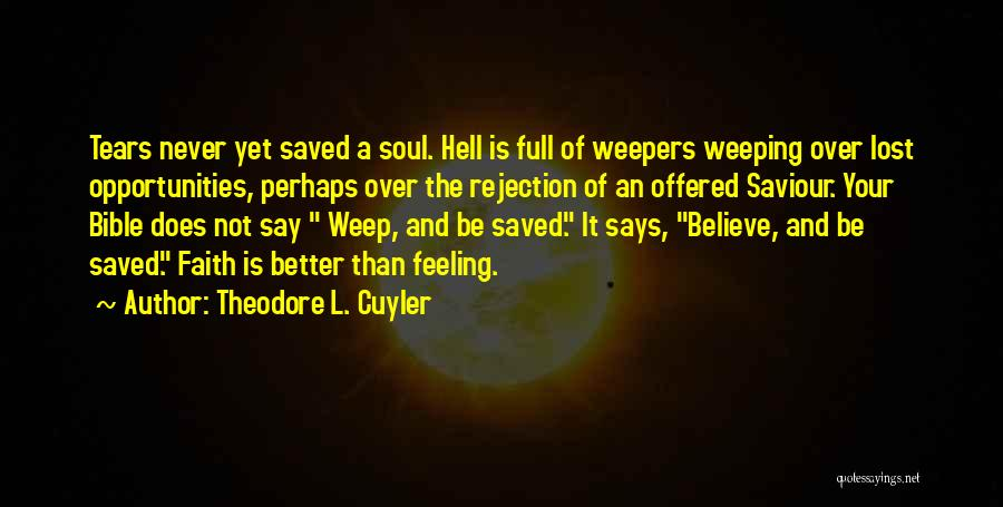 Hell Bible Quotes By Theodore L. Cuyler