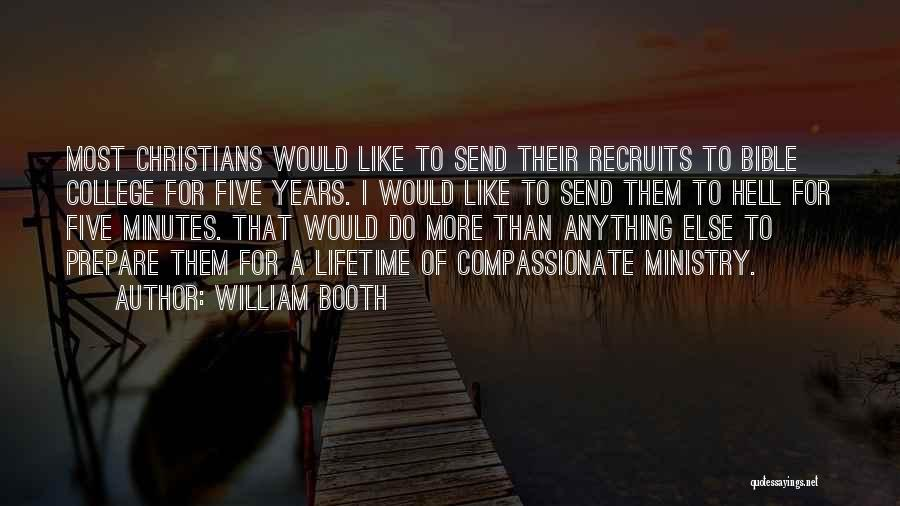 Hell Bible Quotes By William Booth