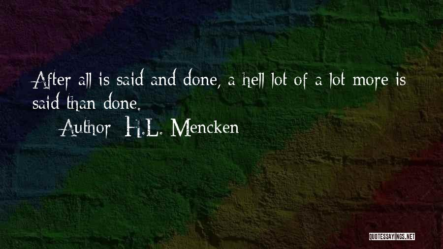 Hell Is Quotes By H.L. Mencken