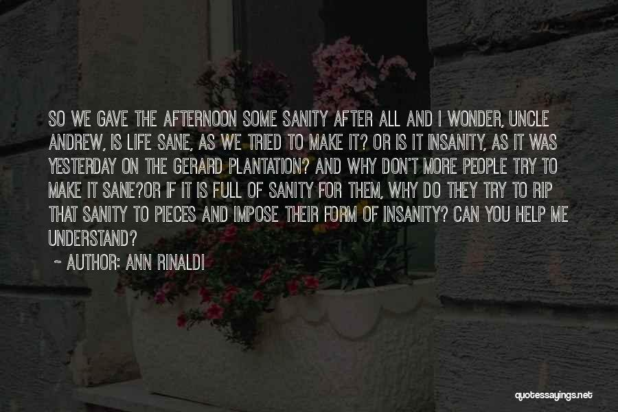 Help Me To Understand Quotes By Ann Rinaldi