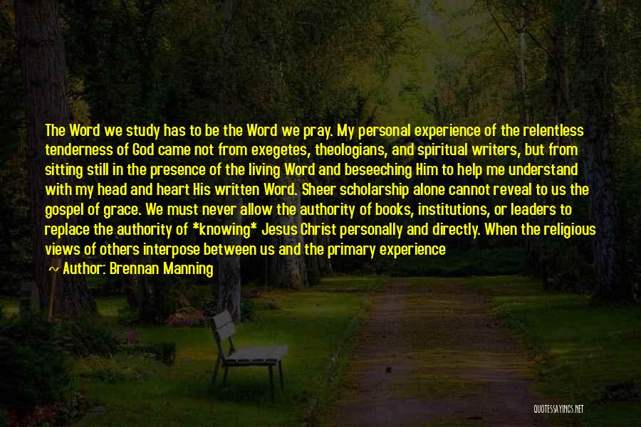 Help Me To Understand Quotes By Brennan Manning