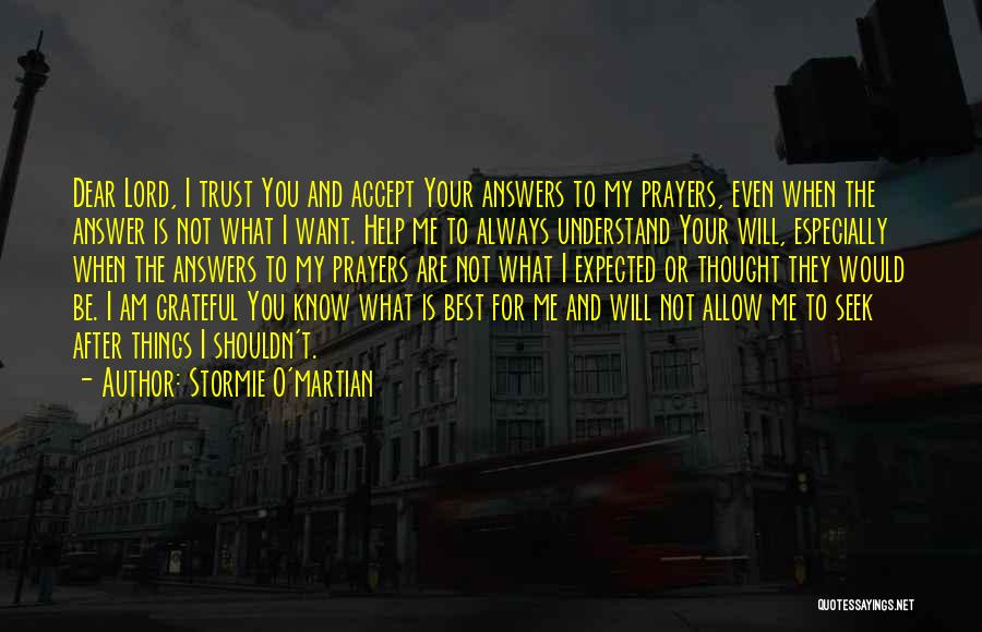 Help Me To Understand Quotes By Stormie O'martian