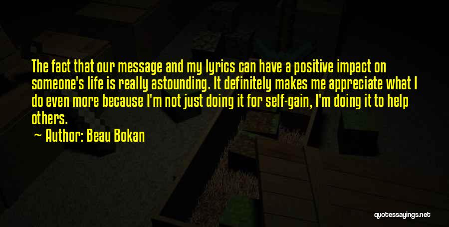 Help To Others Quotes By Beau Bokan