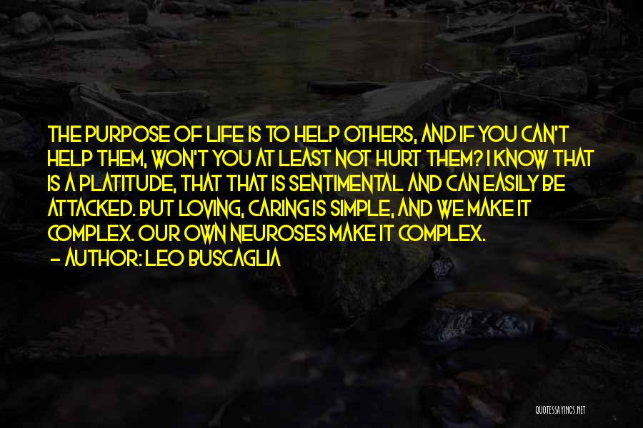 Help To Others Quotes By Leo Buscaglia