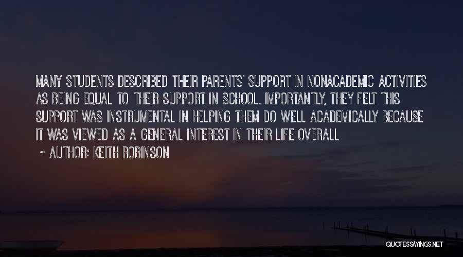 Helping Your Parents Quotes By Keith Robinson