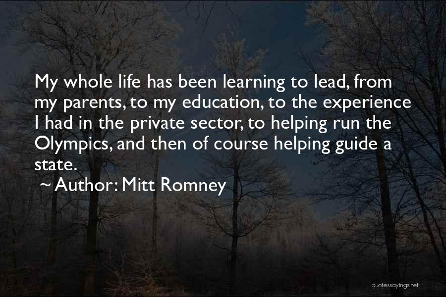 Helping Your Parents Quotes By Mitt Romney