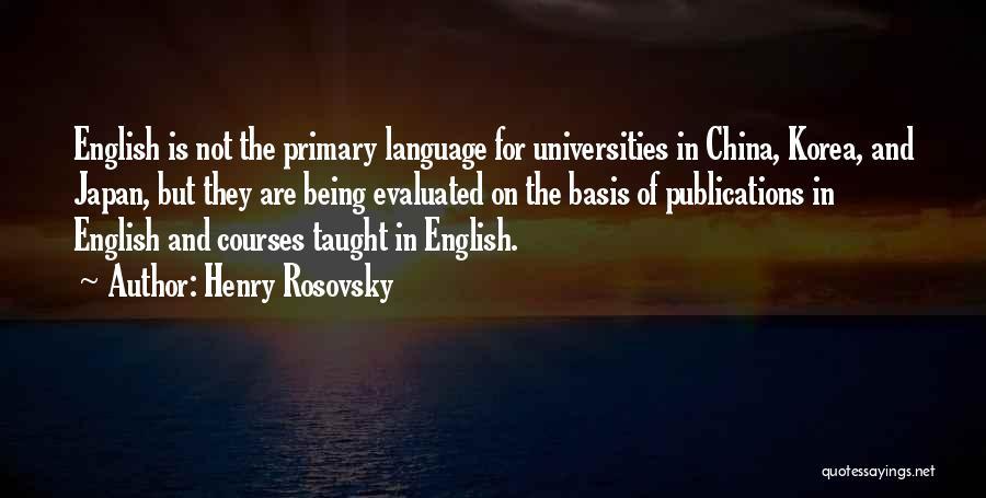 Henry Rosovsky Quotes 1096474