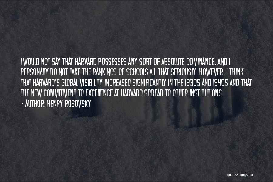 Henry Rosovsky Quotes 132794