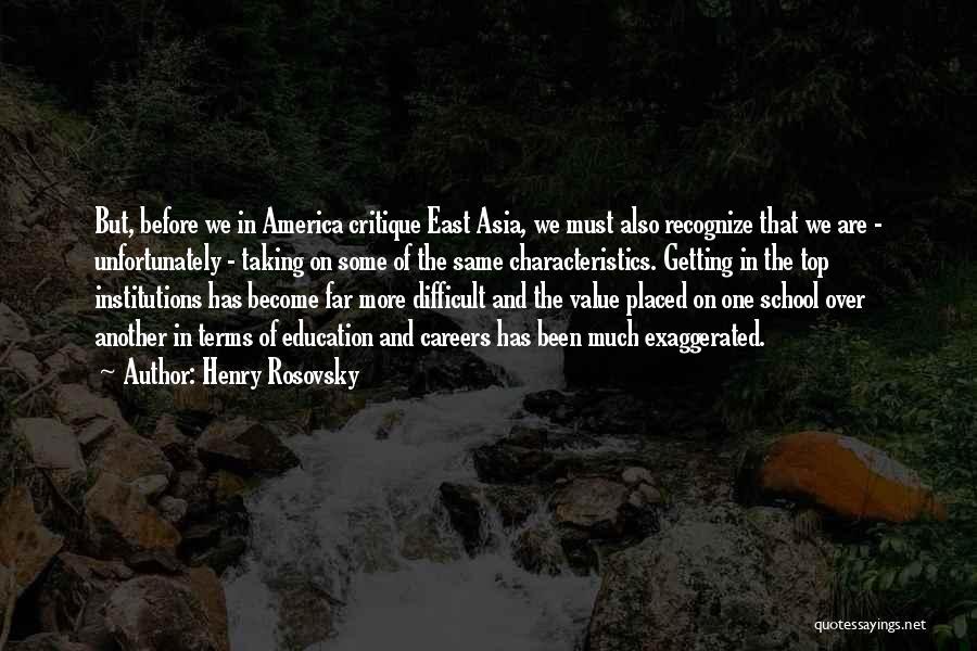 Henry Rosovsky Quotes 217744