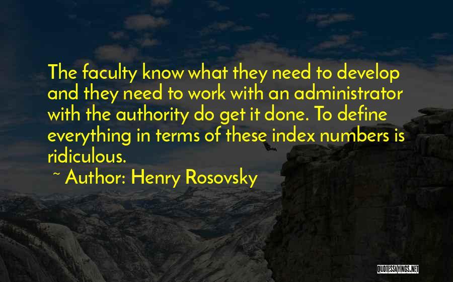 Henry Rosovsky Quotes 960171