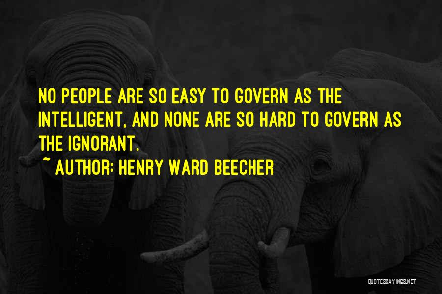 Henry Ward Beecher Quotes 849722