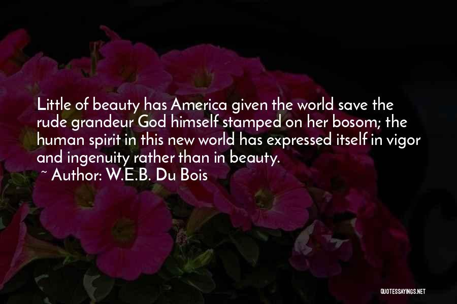 Her Beauty Quotes By W.E.B. Du Bois