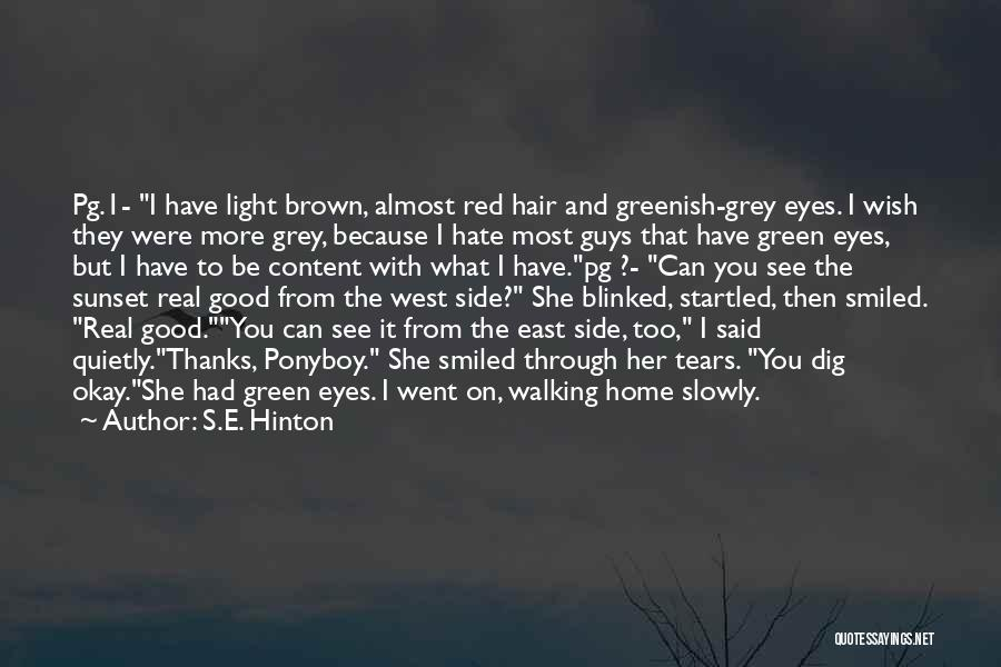 Her Brown Eyes Quotes By S.E. Hinton