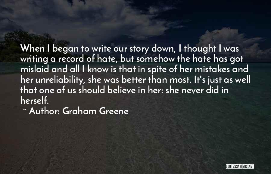 Her When She's Down Quotes By Graham Greene