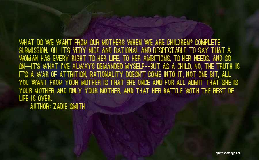 Her When She's Down Quotes By Zadie Smith