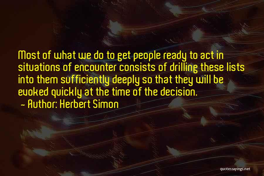 Herbert Simon Quotes 829438