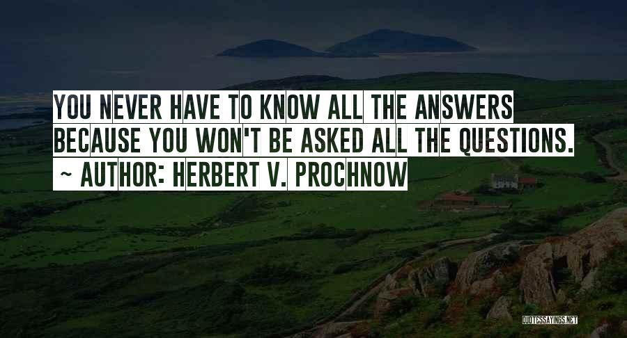 Herbert V. Prochnow Quotes 89975
