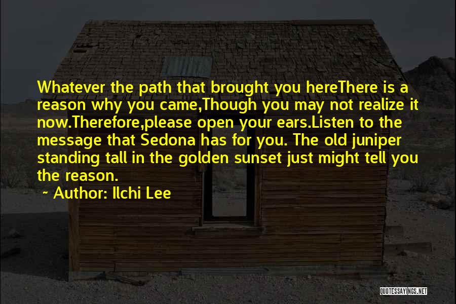 Here For A Reason Quotes By Ilchi Lee