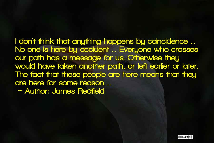 Here For A Reason Quotes By James Redfield