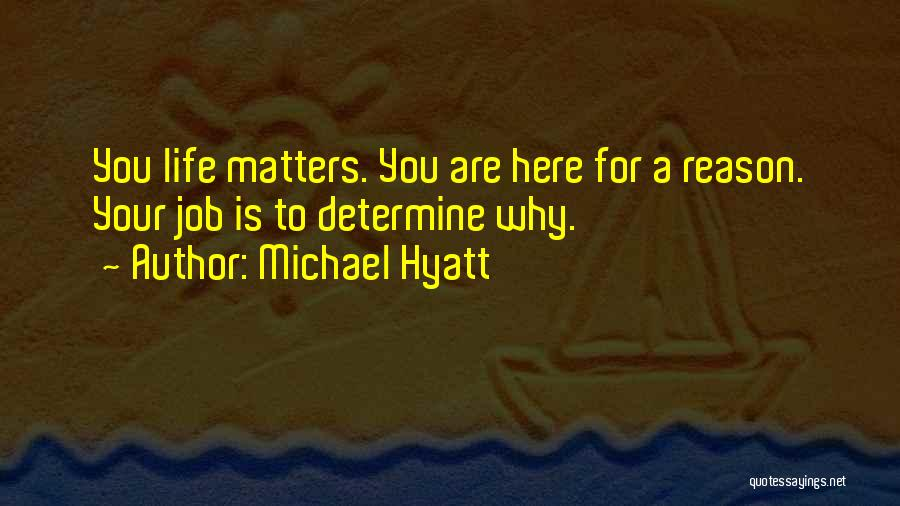 Here For A Reason Quotes By Michael Hyatt