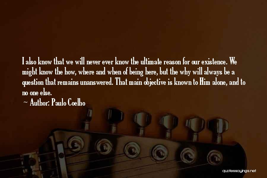Here For A Reason Quotes By Paulo Coelho
