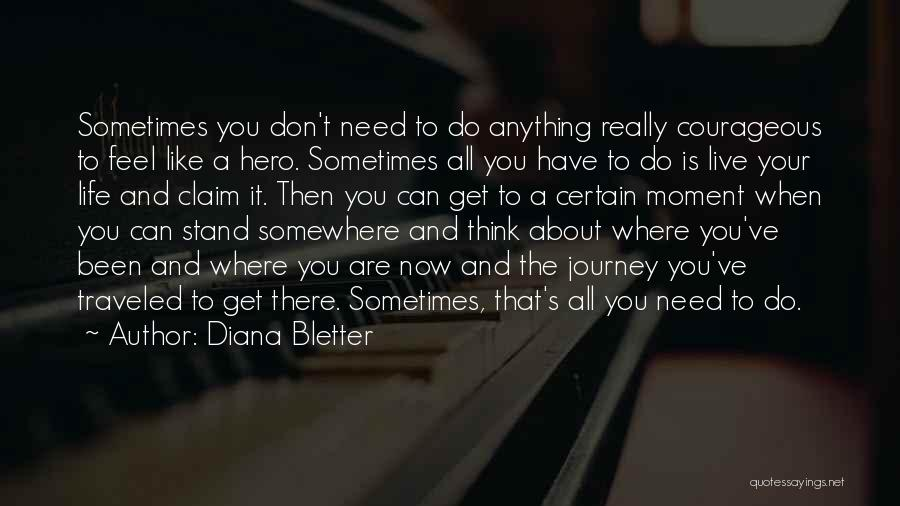 Hero Journey Quotes By Diana Bletter