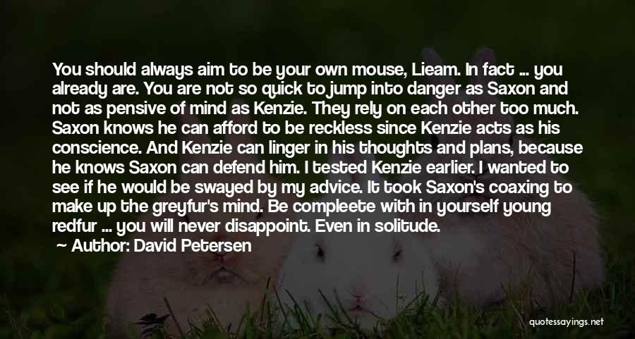 He's Always On My Mind Quotes By David Petersen