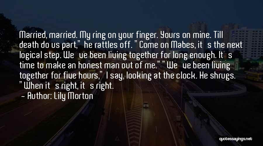 He's Mine Love Quotes By Lily Morton