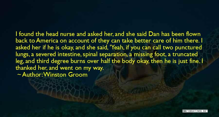 He's My Better Half Quotes By Winston Groom