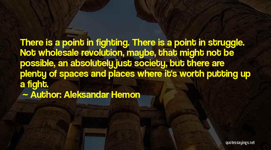 He's Not Worth Fighting For Quotes By Aleksandar Hemon