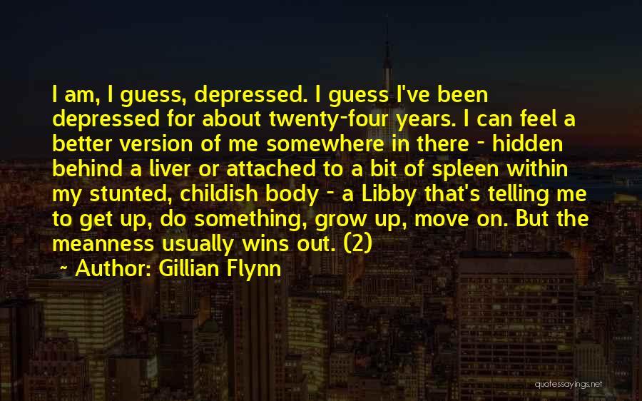 Hidden Depressed Quotes By Gillian Flynn