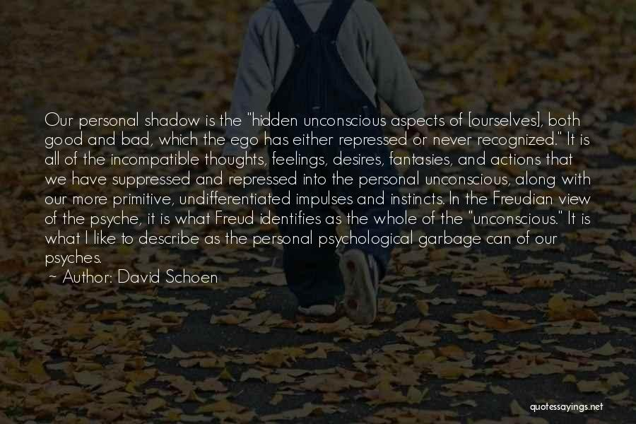 Hidden Feelings For Someone Quotes By David Schoen