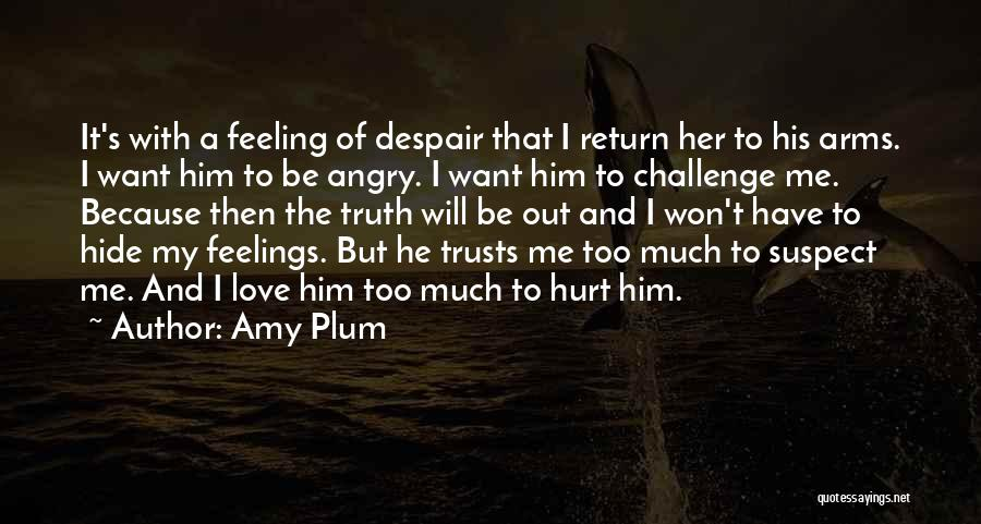 Hide Feelings Quotes By Amy Plum