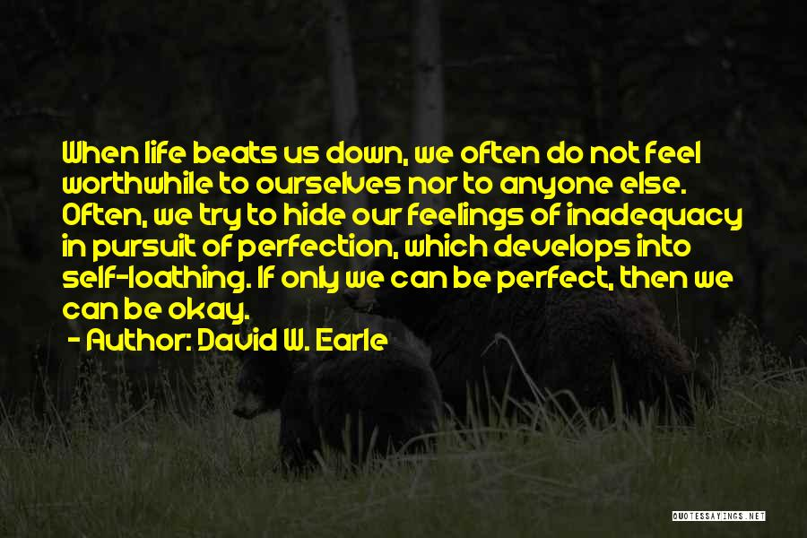 Hide Feelings Quotes By David W. Earle