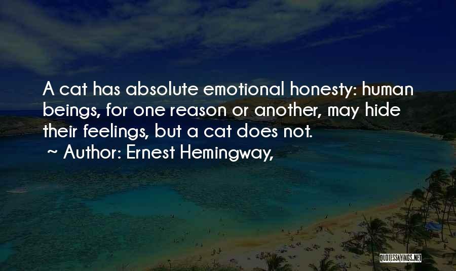 Hide Feelings Quotes By Ernest Hemingway,