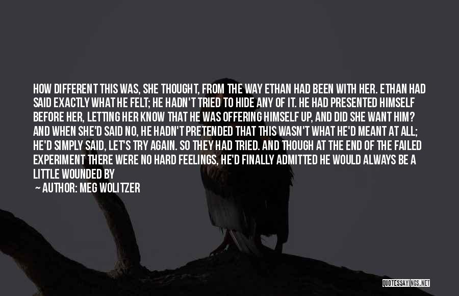 Hide Feelings Quotes By Meg Wolitzer