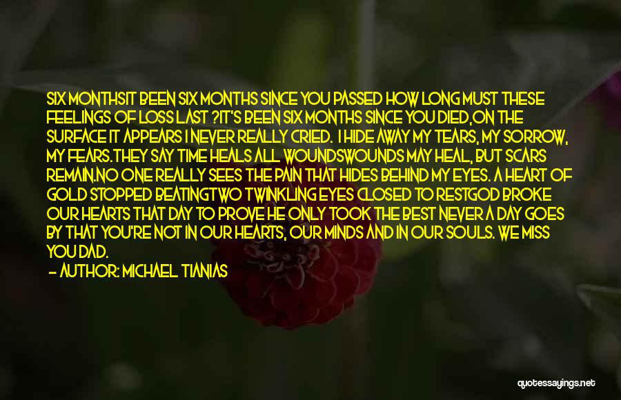 Hide Feelings Quotes By Michael Tianias