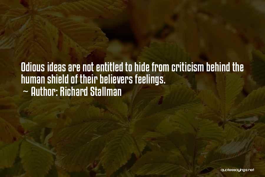 Hide Feelings Quotes By Richard Stallman