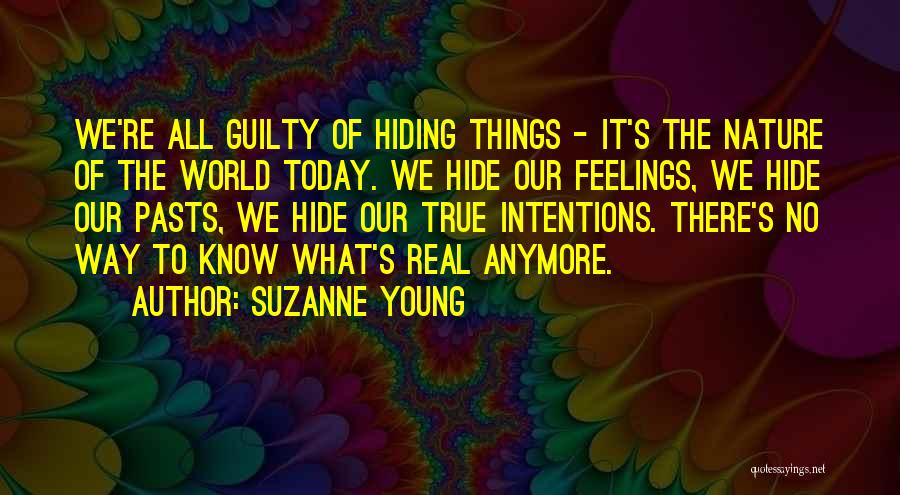 Hide Feelings Quotes By Suzanne Young