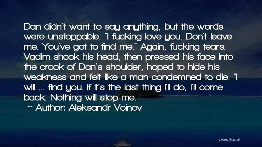 Hide The Tears Quotes By Aleksandr Voinov