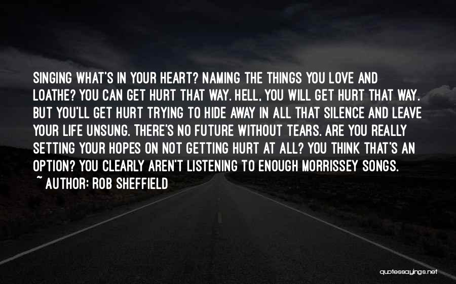 Hide The Tears Quotes By Rob Sheffield