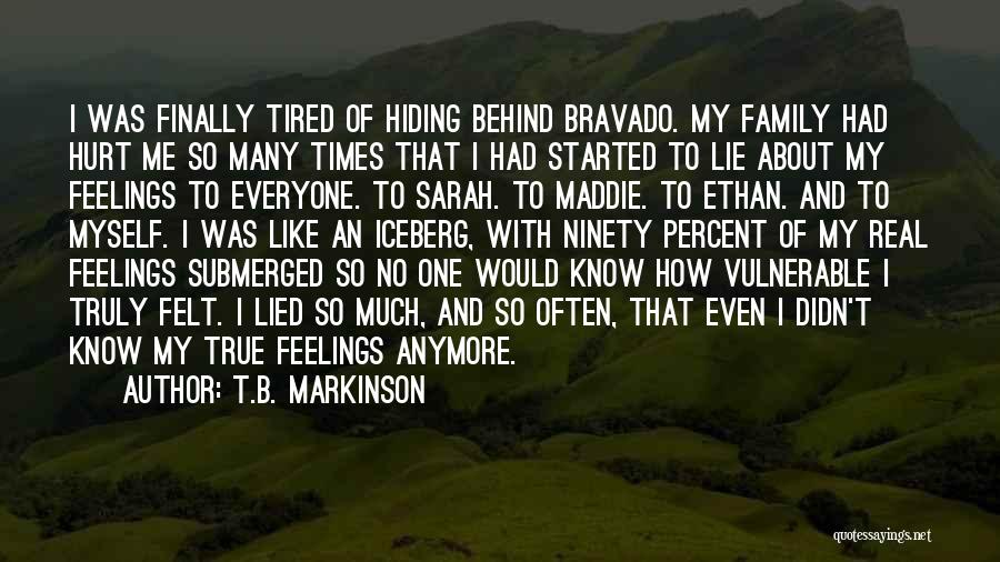 Hiding Feelings Quotes By T.B. Markinson