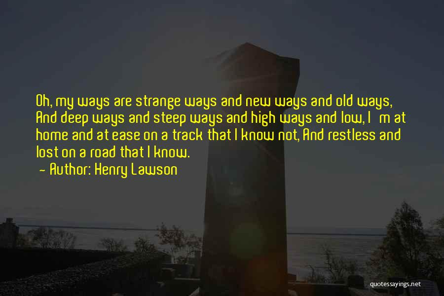 High Road Quotes By Henry Lawson