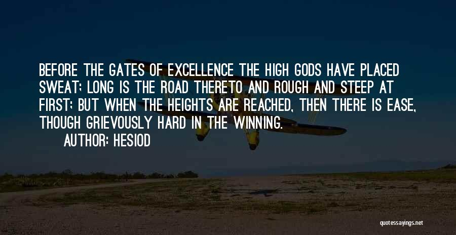 High Road Quotes By Hesiod