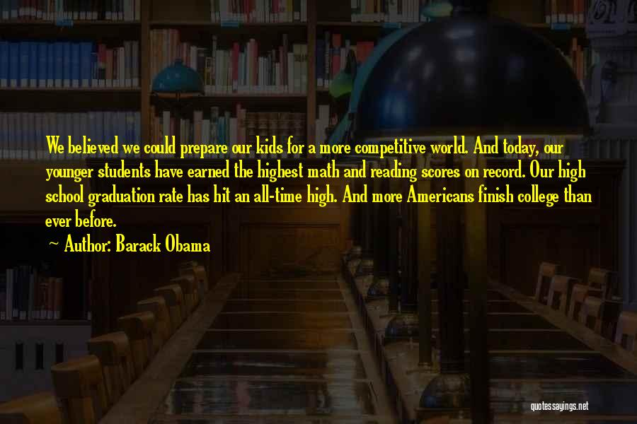 High School Finish Quotes By Barack Obama